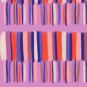 muted stripes with lilac