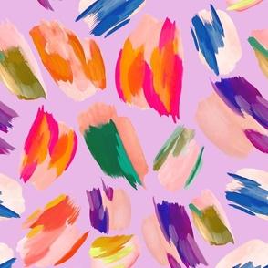 paint splashes purple