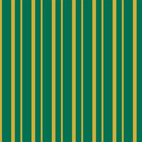 Gold Stripes on a Green background