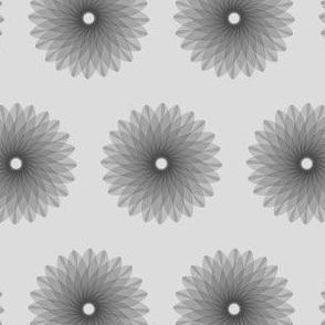 Geometric linework flower - grey scale