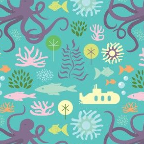Octopus's Garden on Aqua - small scale