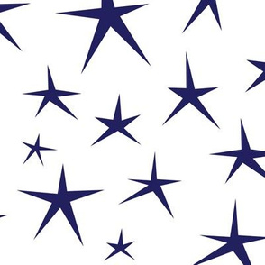 LARGE Patriotic Stars (White and Blue)