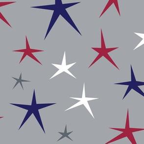 LARGE Patriotic Stars (Gray Multi)