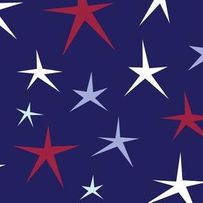 LARGE Patriotic Stars (Blue Multi)