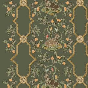 Chinoiserie Trellis - Forest
