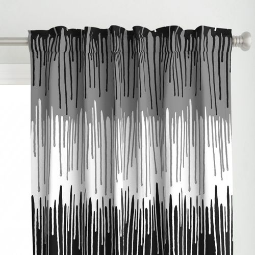 Paint drips black and white 36 inch