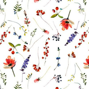 Scandinavian hand painted Wildflower Meadow