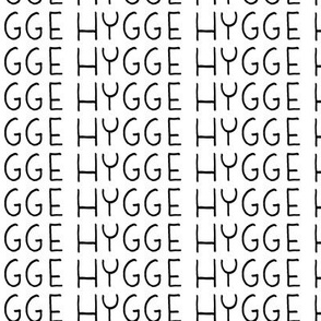 19-16y Black White Words HYGGE Scandinavia