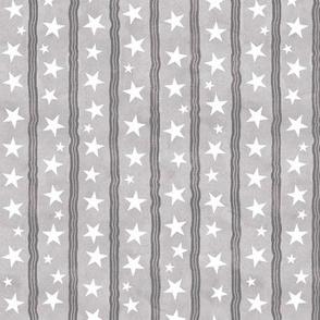 Starry Stripes - grey
