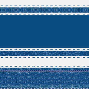 Striped ribbon in classic Blue