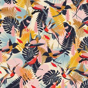 Paradise Birds Pattern / Big Scale