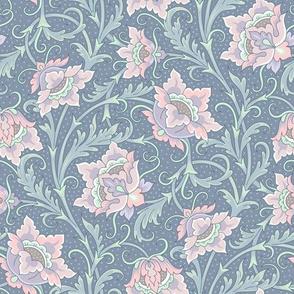Art Nouveau floral mint