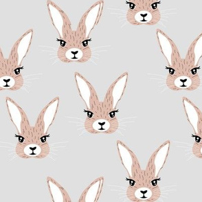 Baby rabbit illustration spring and easter animals hare  bunny design pastel beige neutral nursery