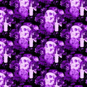 Violet Floral Skull Design 3