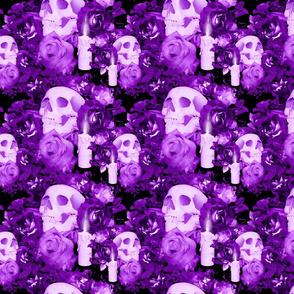 Violet Floral Skull Design 5