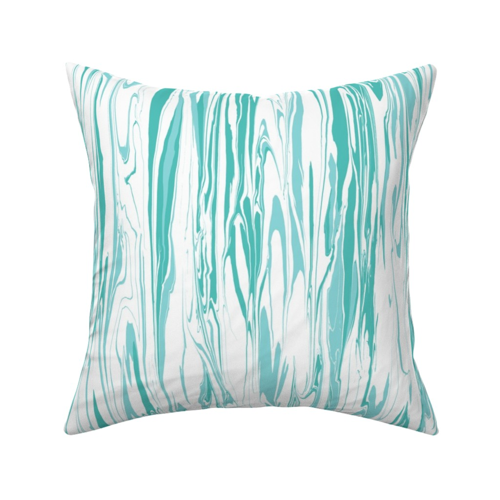 Catalan Throw Pillow featuring Marble Swirl, Cool Water by kateriley