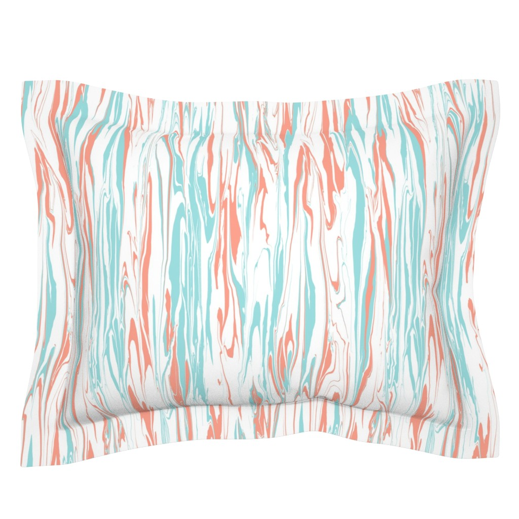 Sebright Pillow Sham featuring Marble Swirl, Apricot by kateriley