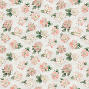 small Briar Rose floral white
