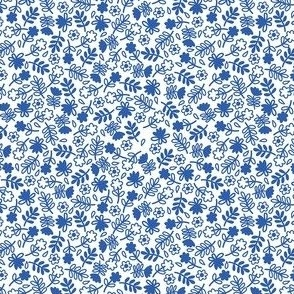 Flowers Blue White small