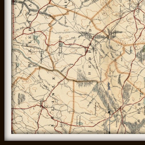 Boston map, vintage - XXL