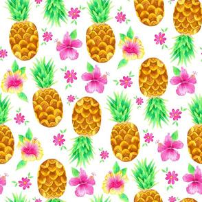 Watercolour Pineapples