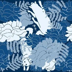 Moody Blosses blue palette