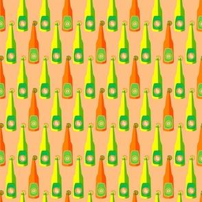 Peach Citrus Bottles Small Scale