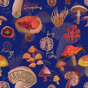 MUSHROOMS JOURNAL IN BLUE