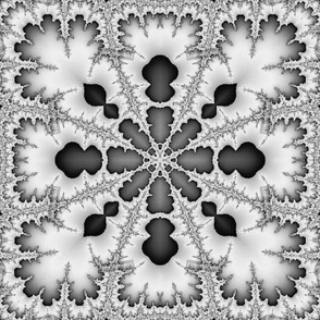 fractal in black and white