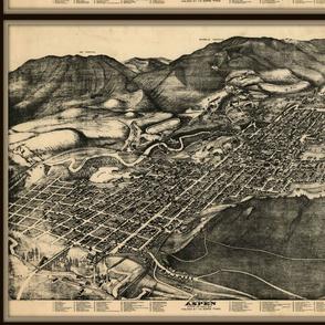 Aspen CO map, birdseye view, vintage - FQ