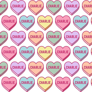 Pastel Personalized Candy Heart Name - Charlie