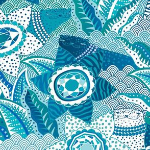 jewels garden blue