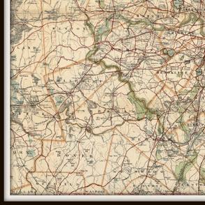 Boston map, vintage - 1 yard