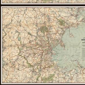 Boston map, vintage - small, FQ