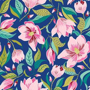 magnolia/blue
