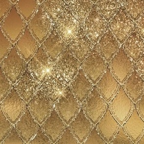 Dragon Scales - gold and glitter