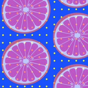 Citrus Wheel Blue Large