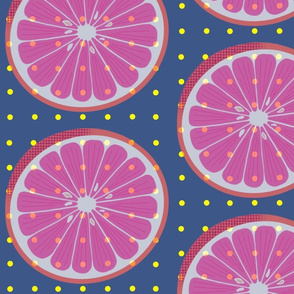 Citrus Wheel Dark Moderate Blue -Large