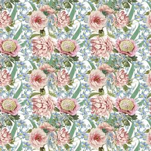 """14"""" Pink Peony and Iris Flowers"""