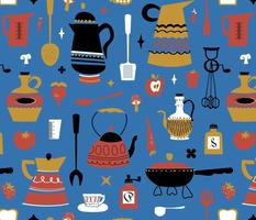 Kitschy Kitchen in Mod Blue