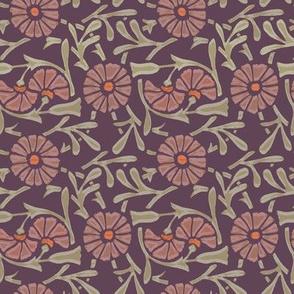 Art Deco Floral - Plum