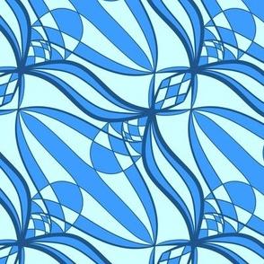 Classic Blue and Cyan Ribbons Pantone 2020
