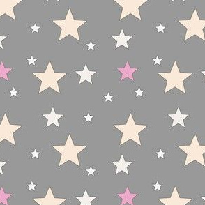 Sterne auf grau