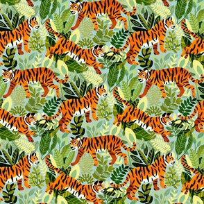 Bright Bengal Tiger Jungle (Small Version)