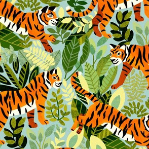 Bright Bengal Tiger Jungle (Medium Version)