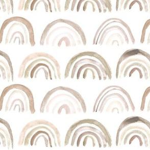 Pastel bronze neutral rainbows ★ watercolor boho beige brush stroke rainbows for modern nursery