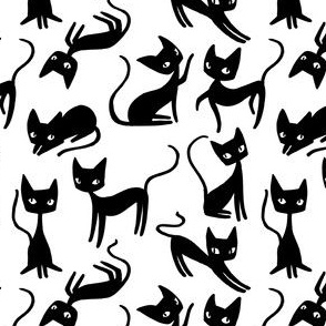 Bunch of Cats - black