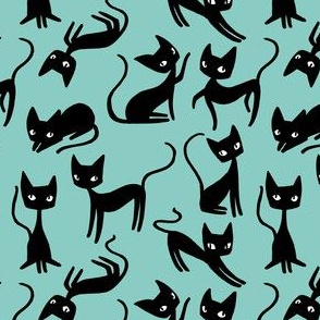Bunch of Cats - Blue