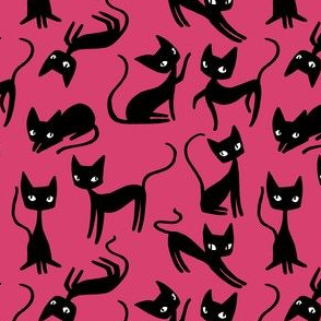 Bunch of Cats - Pink