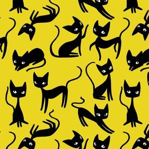 Bunch of Cats - Yellow